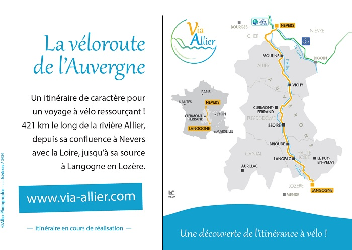 Via Allier - carte postale